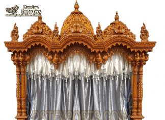 Wooden Large Size Temple For Home Decor