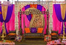 Attractive Outdoor Mehandi Stage Swing Decor