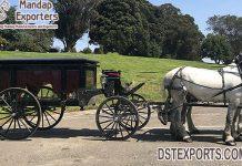 Black Birmingham Horse Drawn Funeral Carriage
