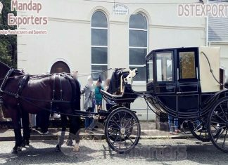 British Style Black Landau Horse Carriages