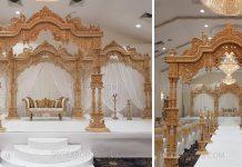 Buy Maharaja Wedding Wooden Peacock Mandap