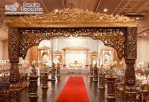 Dazzling Bollywood Wedding Golden Mandap Gate