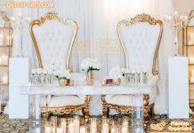 Designer Wedding Stage King Queen Chairs