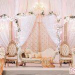 Elegance Muslim Wedding Stage Decoration Setup