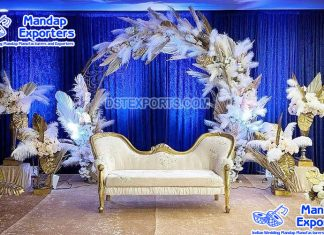 Elegant Engagement Ceremony Stage Couch