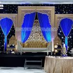 Elegant Golden Theme Wedding Stage Decor