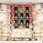 Elegant Wedding Stage Candle Wall For Backstage
