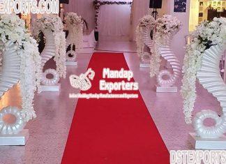 Elegant Wedding White Flower Pot/ Pillars