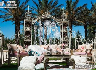 Exclusive White Metal Gate Frame For Wedding