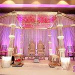 Glamorous Hanging Crystal Wedding Mandap