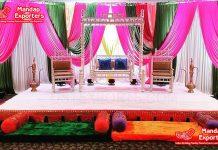 Gorgeous Silver Sankheda Wedding Swing Set