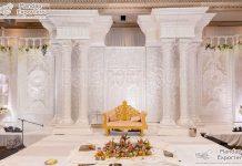 Gorgeous White Theme Grand Wedding Stage