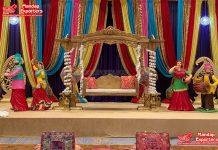 Grand Punjabi Wedding Stage Swing Decoration