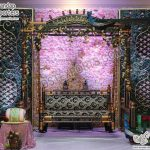 Grand Reception Stage Candle Wall Decoration