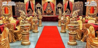 Great Grand South Indian Wedding Stage Decor