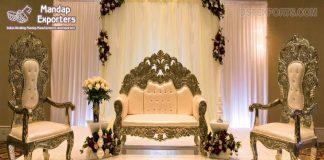 Luxurious Wedding Stage Maharaja Sofa Set