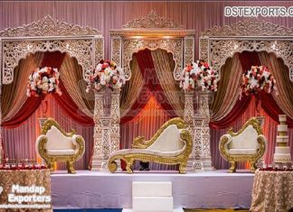 Maharaja Style Wedding Stage Decoration