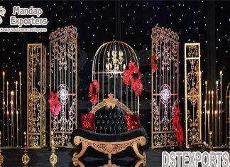 Modern Wedding Event Stage Metal Frames