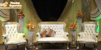Muslim Wedding Reception Wedding Stage Loveseat