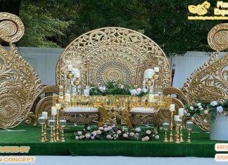 Outdoor Wedding Ceremony Golden Backdrop Frame
