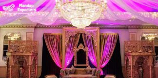 Pakistani Theme Wedding Stage Decoration Setup