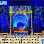 Peacock Theme Wedding Stage Swing Set