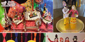 Punjabi Wedding Theme Table Decor Fiber Statues