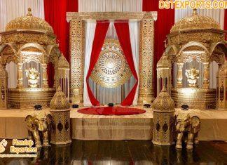 Rajwada Style Indian Wedding Stage Decoration