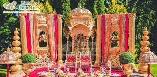 Regal Style Outdoor Wedding Mandap Decor