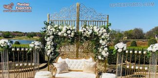 Romantic Style Metal Frame Wedding Arch