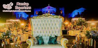 Royal Designer High Back Sofa For Weddings