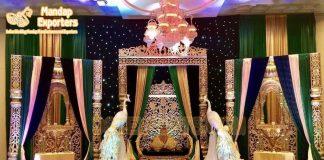 Royal Maharaja Theme Wedding Reception Stage