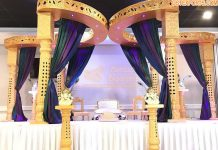 South Indian Wedding Butterfly Style Mandap
