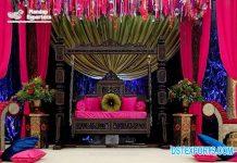 Splendid Sangeet Night Stage Swing Decor
