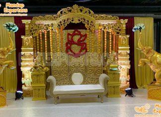 Tamil Wedding Ganesha Theme Stage Setup