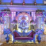 Traditional Manavarai Wedding Ganesha Stage