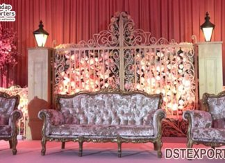 Trending Metal Gate For Wedding Stage Decor