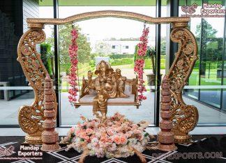 Wedding Entry Ganesha Decoration Swing Setup