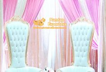 Wedding Stage Loveseat Chairs For Bride Groom