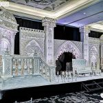 Western Style Asian Wedding Stage Decor