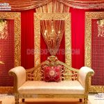 Amazing Golden Backdrop Frames Stage