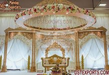 Asian Wedding Double Pillar Stage And Mandap