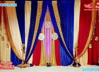 Attractive Colorful Backdrop Drapes Decoration