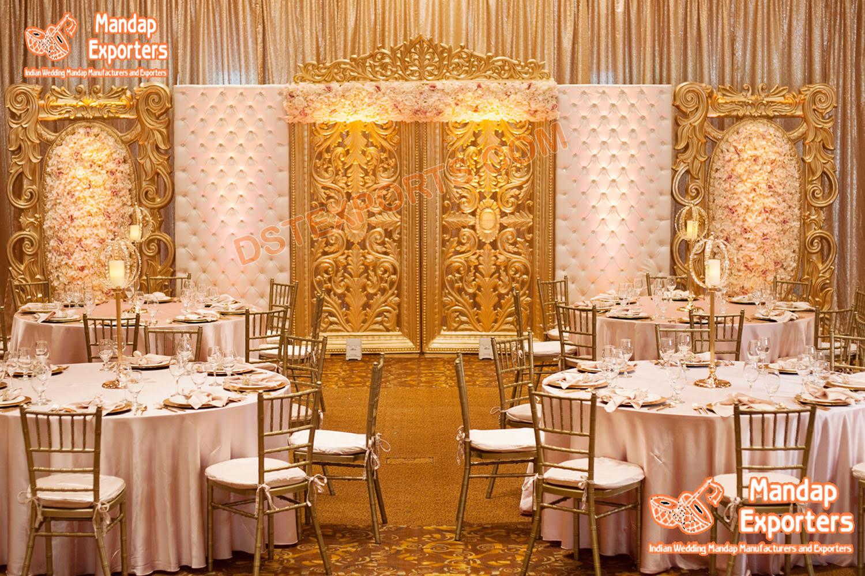 Attractive Latest Design Back Frames For wedding Stage