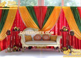Colorful Shiny Wedding Backdrop Drapes