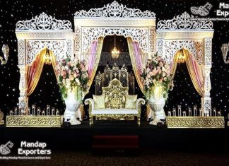 Dazzling Bollywood Theme Wedding Stage Setup