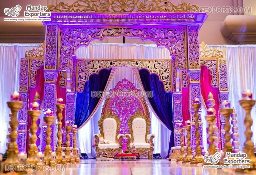 Dazzling Maharani Mandap For Luxury Wedding