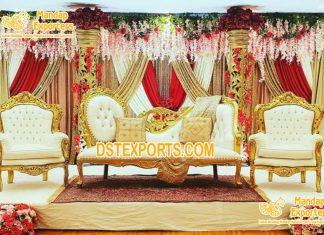 Designer Wedding Stage Loveseat For Bride Groom