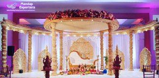 Designer Wedding Wooden Mandap For King Queen