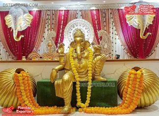 Diving Lord Ganesha Statues for Wedding Decor
